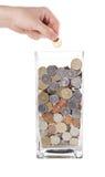 Concetto moderno dei soldi di risparmio Fotografie Stock Libere da Diritti