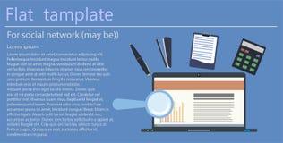 Concetto moderno dell'illustrazione di vettore di progettazione piana dell'area di lavoro creativa dell'ufficio, posto di lavoro illustrazione di stock