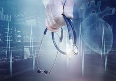 Concetto moderno di cardiologia della medicina Fotografie Stock Libere da Diritti