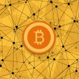 Concetto moderno di Vetor di bitcoin, nuovi soldi Immagine Stock Libera da Diritti