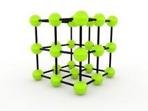 Concetto molecolare verde Fotografie Stock