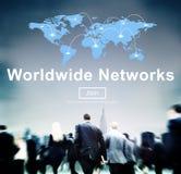 Concetto mondiale di finanza della comunicazione globale delle reti Fotografia Stock Libera da Diritti