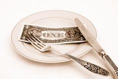 Concetto monetario Fotografia Stock Libera da Diritti