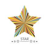 Concetto multicolore della stella Nessuna maschera di residuo della potatura meccanica illustrazione di stock