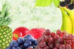 Concetto naturale sano fresco dell'alimento del fondo misto di frutti Immagini Stock Libere da Diritti