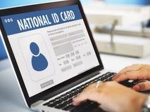 Concetto nazionale del cittadino di informazioni di dati della carta di identità fotografia stock libera da diritti