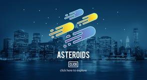 Concetto nebulare di esplorazione di astronomia delle asteroidi Fotografia Stock