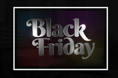 Concetto nero di venerdì Fotografie Stock
