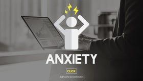 Concetto nervoso di panico della medicina di apprensione di ansia Fotografia Stock Libera da Diritti