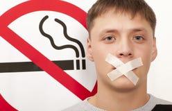 Concetto non fumatori Fotografie Stock Libere da Diritti