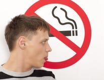 Concetto non fumatori Fotografia Stock