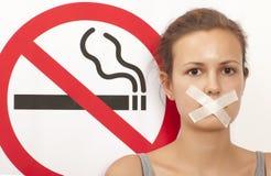 Concetto non fumatori Immagini Stock