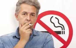 Concetto non fumatori Fotografia Stock Libera da Diritti