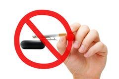 Concetto non fumatori del segno di proibizione Fotografie Stock
