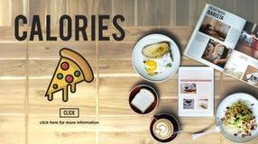 Concetto non sano del grasso di calorie degli spuntini degli alimenti a rapida preparazione dell'icona della pizza Fotografia Stock Libera da Diritti