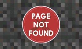 Concetto non trovato di problema del messaggio 404 della pagina Fotografie Stock Libere da Diritti