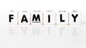 Concetto 'nucleo familiare' Fotografia Stock Libera da Diritti