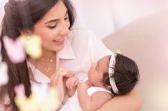 Concetto 'nucleo familiare' felice Fotografia Stock