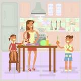 Madre e figlia che cucinano insieme bambini di aiuto ai - Bambine che cucinano ...
