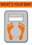 Concetto obeso di salute di BMI Immagini Stock Libere da Diritti