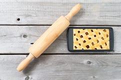 Concetto online dei recipies della pasticceria Immagine Stock