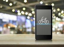 Concetto online del negozio della bici Immagini Stock