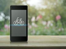 Concetto online del negozio della bici Fotografia Stock