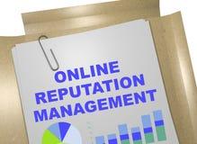 Concetto online della gestione di reputazione Fotografia Stock Libera da Diritti