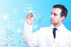 Concetto online della medicina Fotografia Stock