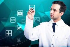 Concetto online della medicina Immagine Stock