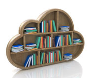 Concetto online delle biblioteche Fotografie Stock Libere da Diritti