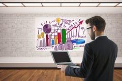 Concetto online di affari Immagine Stock
