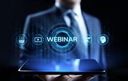 Concetto online di affari di istruzione di seminario di e-learning di Webinar illustrazione vettoriale
