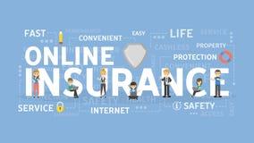 Concetto online di assicurazione illustrazione di stock