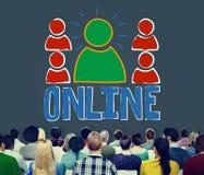 Concetto online di comunicazione di Internet della rete del collegamento Fotografia Stock Libera da Diritti