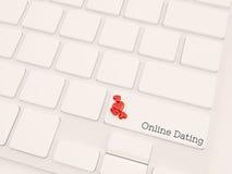 Concetto online di datazione Fotografia Stock