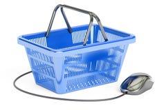 Concetto online di e-shopping, rappresentazione 3D Fotografia Stock