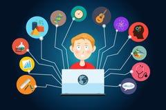 Concetto online di istruzione Immagine Stock