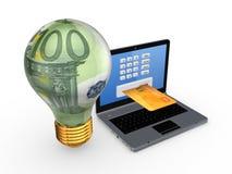 Concetto online di pagamenti. Fotografie Stock Libere da Diritti