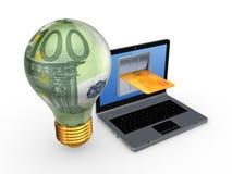 Concetto online di pagamenti. Fotografie Stock