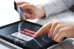 Concetto online di pagamento Fotografie Stock Libere da Diritti
