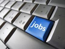Concetto online di ricerca di lavoro Immagini Stock Libere da Diritti