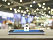 Concetto online di sicurezza e di sicurezza di Internet di affari Immagine Stock Libera da Diritti