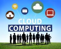 Concetto online di stoccaggio di Internet della rete informatica della nuvola Immagine Stock Libera da Diritti