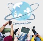 Concetto online di tecnologia della rete di comunicazione Fotografie Stock