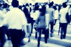 Concetto pedonale di camminata di Hong Kong People Commuters City Immagini Stock