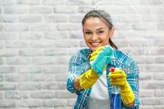 Concetto per i servizi domestici di pulizia Fotografia Stock Libera da Diritti