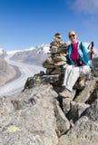 Concetto per l'escursione, arrampicarsi, ambulante Fotografia Stock