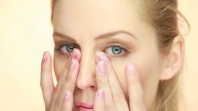 Concetto perfetto di Skincare della carnagione stock footage