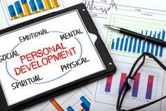 Concetto personale di sviluppo Fotografia Stock